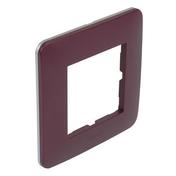 Plaque de finition simple CASUAL coloris prune mat - Interrupteurs - Prises - Electricité & Eclairage - GEDIMAT