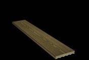 Lame de terrasse Composite FOREXIA ELEGANCE structurée veinée bois large ép.23mm larg.180mm long.4m Brun exotique - Porte seule gravée PLANET haut.2,04m larg.83cm - Gedimat.fr
