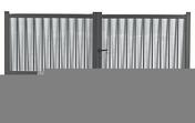 Portail battant en aluminium TRITON haut.1,60m larg.entre piliers 3,56 m gris - Fenêtre bois exotique lamellé collé sans aboutage isolation totale 100mm 1 vantail ouvrant à la française vitrage imprimé gauche tirant haut.60cm larg.40cm - Gedimat.fr