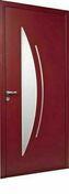 Porte d'entrée CYTISS 7 en aluminium laqué gauche poussant haut.2,15m larg.90cm - Portes d'entrée - Menuiserie & Aménagement - GEDIMAT