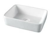 Vasque carrée à poser SEYDA en céramique larg.37,5cm long.48cm blanc - Paroi long.90cm haut.200cm ELANA - Gedimat.fr