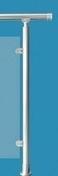 Poteau R1 Aluminium rond pour garde-corps RONDO haut.0,97m - Coude cuivre à souder femelle-femelle petit rayon 90CU angle 90° diam.28mm avec lien 1 pièce - Gedimat.fr