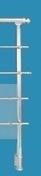 Poteau R2 Aluminium rond pour garde-corps RONDO haut.1,15m - Balustrades et Garde-corps intérieurs - Menuiserie & Aménagement - GEDIMAT