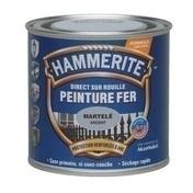 Peinture antirouille DIRECT SUR ROUILLE pot de 250ml aspect martelé coloris gris argent - Peintures fer - Peinture & Droguerie - GEDIMAT