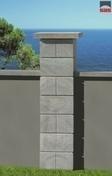Kit 2 piliers b�ton marbr� gris hauteur totale 204 + 6 cm - Piliers - Murets - Am�nagements ext�rieurs - GEDIMAT