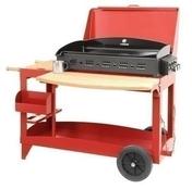 Plancha SUPER REINA avec couvercle sur chariot rouge - Barbecues - Fours - Planchas - Plein air & Loisirs - GEDIMAT