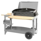 Plancha SUPER REINA avec couvercle sur chariot anthracite - Barbecues - Fours - Planchas - Plein air & Loisirs - GEDIMAT