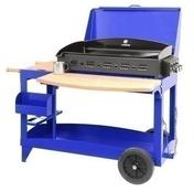 Plancha SUPER REINA avec couvercle sur chariot bleu klein - Barbecues - Fours - Planchas - Plein air & Loisirs - GEDIMAT