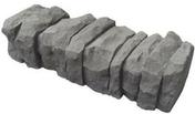 Bordurette en pierre reconstituée ARDELIA dim.45x16x13cm graphite - Plaquette de parement MUROK SIERRA ép.1,5cm long.1m larg.50cm coloris blanc - Gedimat.fr