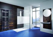 Paroi de douche fixe ALLURE haut.2m long.90m profil�s aluminium effet chrom� verre s�rigraphi� - Portes - Parois de douche - Salle de Bain & Sanitaire - GEDIMAT