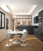 Plan de travail stratifié ép.28mm larg.0,61m long.2,90m R4 décor bronze noir - Plans de travail - Crédences - Cuisine - GEDIMAT