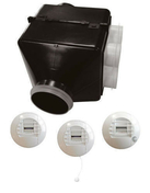 Kit HYGROPT'AIR 4S BC - Bouche de ventilation pour VMC simple flux et double flux long.10cm diam.8cm blanc - Gedimat.fr