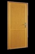 Porte de service NICE en bois exotique gauche poussant haut.2,15m larg.90cm - Portes de service - Menuiserie & Aménagement - GEDIMAT