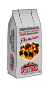 Charbon de bois sac 50L - Rosace émaillé noir mat diam.150mm - Gedimat.fr