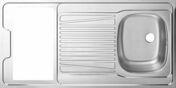 Plan de travail inox pour kitchenette 120 x 60 cm - Plans de travail - Crédences - Cuisine - GEDIMAT