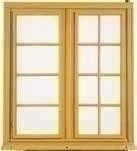 Petis bois ELENA à clipper pour fenêtre 2 vantaux larg.1,00m - Fenêtre bois exotique lamellé collé sans aboutage 2 vantaux ouvrant à la française vitrage transparent haut.1,55m larg.1,00m - Gedimat.fr