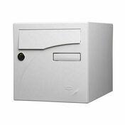 Boîte aux lettres PREFACE 2 portes coloris blanc - Pelle ronde col de cygne emmanchée frêne PEFC Long.27 cm - Gedimat.fr