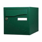 Boîte aux lettres PREFACE 2 portes coloris vert - Boîtes aux lettres - Aménagements extérieurs - GEDIMAT
