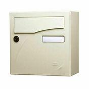 Boîte aux lettres PREFACE compact coloris ivoire - Boîtes aux lettres - Aménagements extérieurs - GEDIMAT
