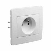 Appareillage encastré prise 2P+T 16 ampères gamme Diam2 couleur blanc - Interrupteurs - Prises - Electricité & Eclairage - GEDIMAT