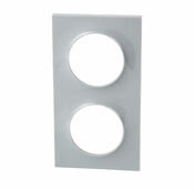 Plaque 2P Odace Styl Gris - Interrupteurs - Prises - Electricité & Eclairage - GEDIMAT