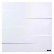 Radiateur à inertie sèche MALAO Blanc 2000W Haut.60,7cm larg.115,3cm Ép.14,5cm SAUTER - Plan de travail stratifié ép.38mm, pan coupé, dim.95x95cm R4 décor béton blanc - Gedimat.fr