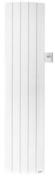 Radiateur à fluide caloporteur BACHATA Vertical 1800W haut.180cm larg.42cm prof.11cm blanc - Bloc-porte FUJI isolant revêtu mélaminé structuré finition frêne blanc haut.204cm larg.83cm droit poussant - Gedimat.fr
