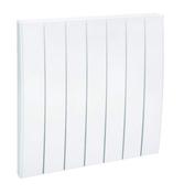 Radiateur à inertie réfractite ETAMINE II 2000W haut.58cm larg.58,2cm prof.13,5cm blanc - Décor DEC pour mur en faïence mate RIVERSIDE larg.20cm long.60cm coloris G-gris - Gedimat.fr