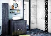 Radiateur sèche serviettes slim VENISE 500W Dim. : L.45 x H.145 x P.13,8 cm - Chauffage salle de bain - Salle de Bains & Sanitaire - GEDIMAT