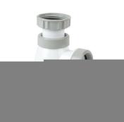 Siphon bi-matière - joint intégré lavabo, réglable 45.99 mm, entrée 1''1.4, sortie diam.32, haut.sous lavabo 127,5 à 181,5mm, garde d'eau 50 mm, débit 45 l.mn, Technologie Connectic - Vidages - Salle de Bains & Sanitaire - GEDIMAT