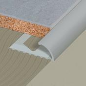 Profilé de finition 1/4 de rond aluminium pour carrelage long.2,50m haut.10mm - Double de rive d'égout ROMANE-CANAL coloris vieilli Languedoc - Gedimat.fr
