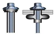 Fixation aveugle EPDM en acier inoxydable 18/8 - Bacs acier - Couverture & Bardage - GEDIMAT