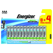 PILE AAA LR03 1.5V ALCALINE ECO ADVANCED ENERGIZER B8+4 - Piles - Torches - Electricité & Eclairage - GEDIMAT