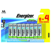 PILE AA LR6 1.5V ALCALINE ECO ADVANCED ENERGIZER B8+4 - Douchette 1 jet EMERAUDE anti-calcaire finition chromée - Gedimat.fr