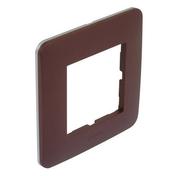 Plaque simple CASUAL chocolat mat - Interrupteurs - Prises - Electricité & Eclairage - GEDIMAT