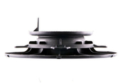 Plot réglable pour lambourde hauteur de 40 à 60 mm - Clip démontable aluminium noir pour lames de terrasse FOREXIA & ATMOSPHERE  sachet de 10 pièces - Gedimat.fr