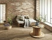 Carrelage pour mur en grès cérame émaillé MURALES larg.10cm long.30cm coloris marronne - Coude plissé à 90° émaillé noir diam.180mm - Gedimat.fr