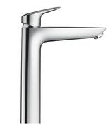 Mitigeur lavabo grand modèle MY CUBE HANSGROHE chromé - Mitigeur TYRIA Haut.29,3cm cartouche de 35 mm douille.diam.44mm chrome noir - Gedimat.fr