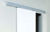 Cache rail MDF revêtu décor aluminium long.2m - Caisson à galandage simple ESSENTIAL pour porte seule haut.2,04m larg.83cm - Gedimat.fr