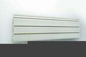 Bardage PVC cellulaire aspect Claire-Voie ép.23mm larg.250mm utile (194 hors tout) long.4m Beige - Faîtière cylindrique de 40cm pour tuile TERREAL coloris vieille terre - Gedimat.fr