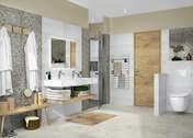 Miroir lumière Led REFLEX haut.60cm larg.80cm argent - Armoires de toilette et Accessoires - Salle de Bains & Sanitaire - GEDIMAT