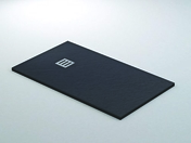 Receveur rectangulaire à poser QUARTZ résine polyester haut.3cm larg.80cm long.1,20m noir - Bloc-porte gravé PLANET huis.88mm haut.2,04m larg.93cm droit poussant - Gedimat.fr