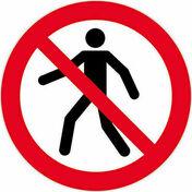Panneau rond «interdit aux piétons» diamètre 300mm - Signalisation - Outillage - GEDIMAT