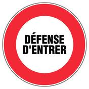 Panneau rond «défense d'entrer» diamètre 300mm - Signalisation - Outillage - GEDIMAT
