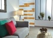 Décor rectifié MURANO en grès cérame émaillé pour mur en faïence mate rectifiée DOWNTOWN larg.15cm long.90cm coloris bianco - Carrelages murs - Cuisine - GEDIMAT