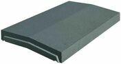 Chaperon optipose 2 pentes long.49cm larg.28cm �p.40mm gris nacr� - Piliers - Murets - Am�nagements ext�rieurs - GEDIMAT