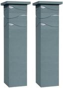 Kit 2 piliers dim.39x39cm haut.1,72m gris nacr� - Piliers - Murets - Am�nagements ext�rieurs - GEDIMAT