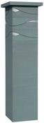 Kit 1 pilier dim.39x39cm haut.1,72m gris nacré - Raccord pour fenêtre VELUX sur tuiles jusqu'à 120mm de relief EDW SK08 type 0000 pose traditionnelle - Gedimat.fr