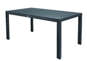 Table aluminium MT long.160cm prof.90cm haut.74cm gris anthracite - Sous faitière 2/3 pureau PLEIN SUD coloris littoral flammé - Gedimat.fr