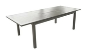 Table aluminium trieste 180/240cm gris brush - Table Pique-nique - Plein air & Loisirs - GEDIMAT